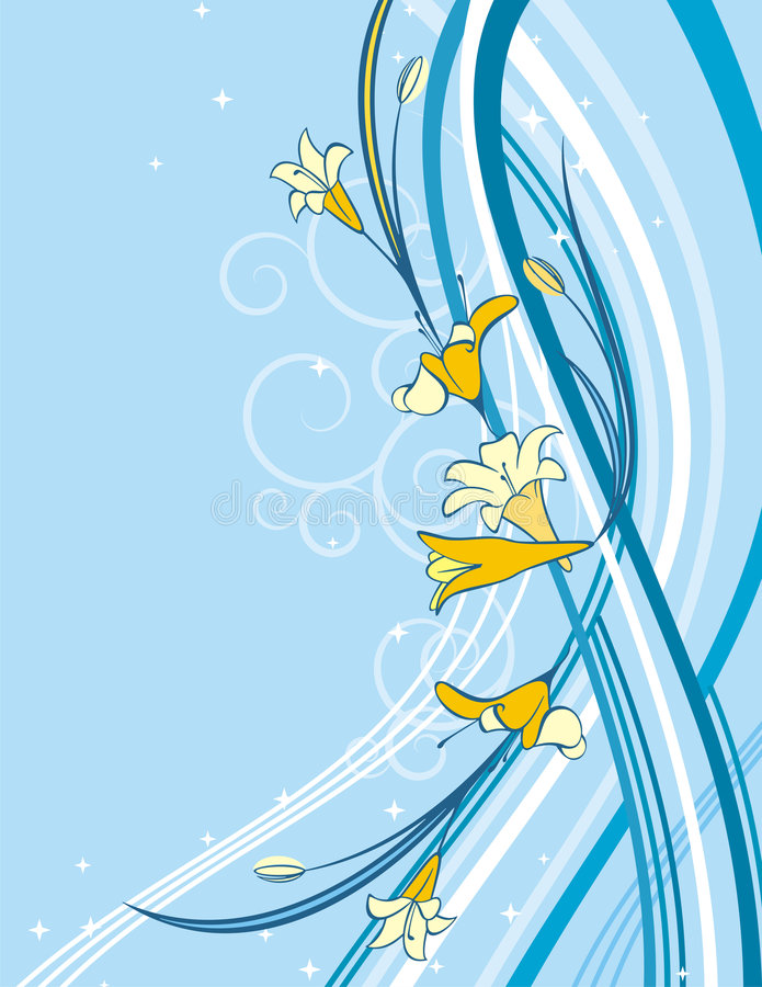 Exquisite floral background. Exquisite floral spring background with scroll elements. EPS file included vector illustration