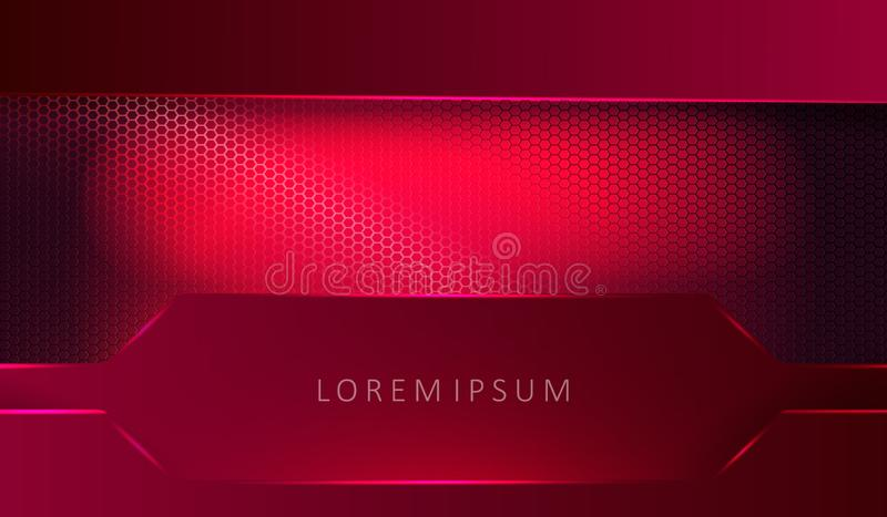 Exquisite geometric pink background with rectangular frames.  royalty free illustration