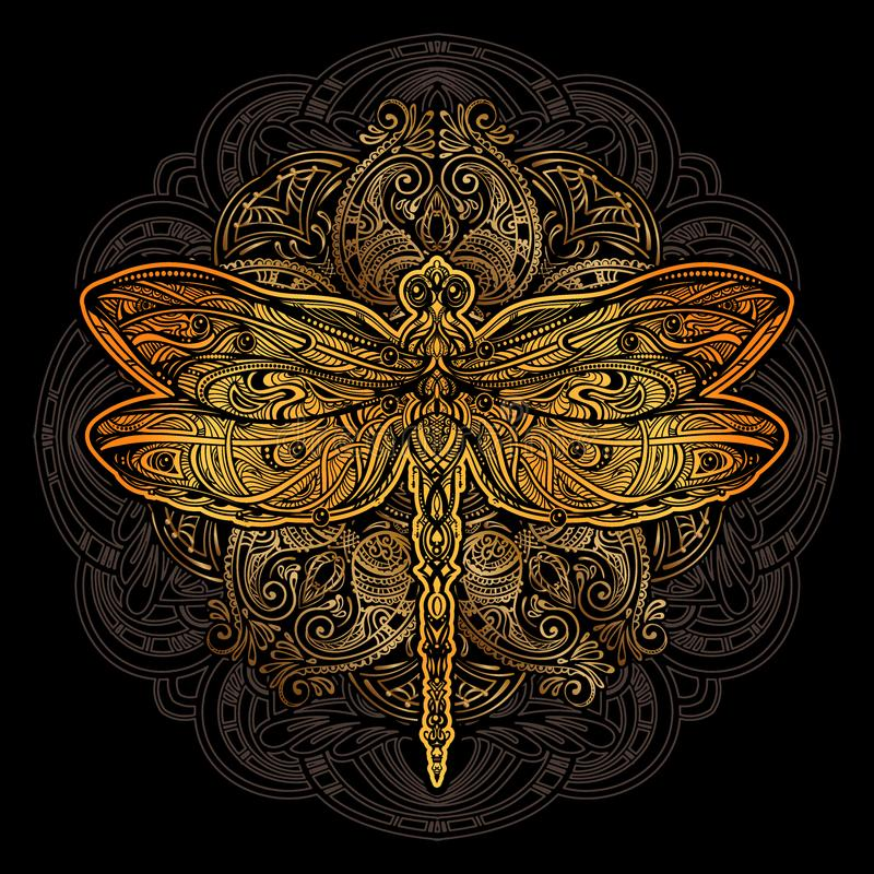 Dragonfly vector tattoo vector illustration