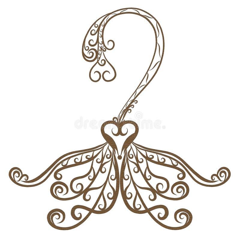 Exquisite hanger line decoration logo.  vector illustration