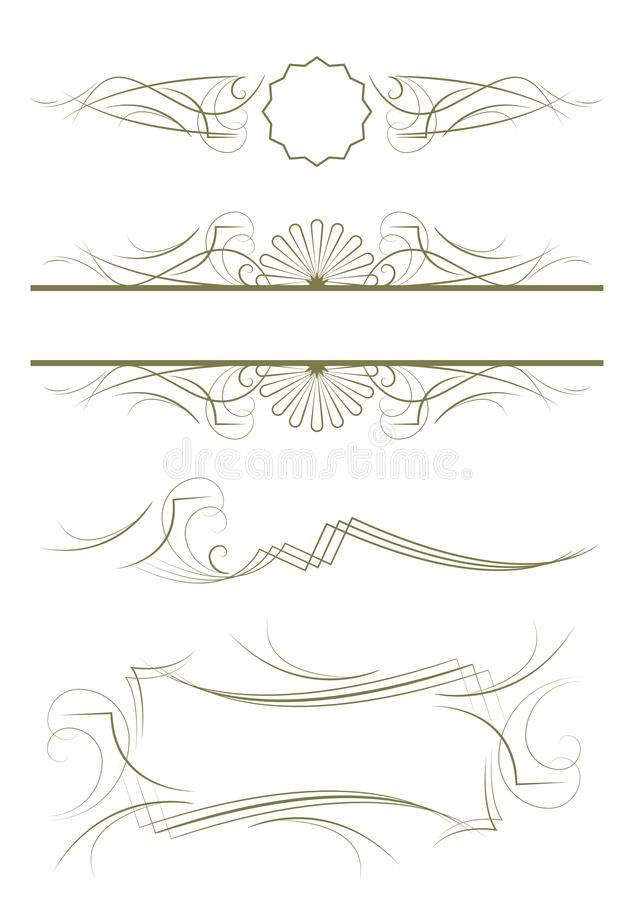 Exquisite Ornamental and Page Decoration Designs royalty free illustration