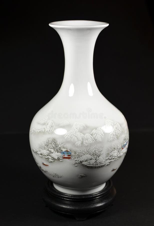Exquisite Porcelain Vase royalty free stock photos