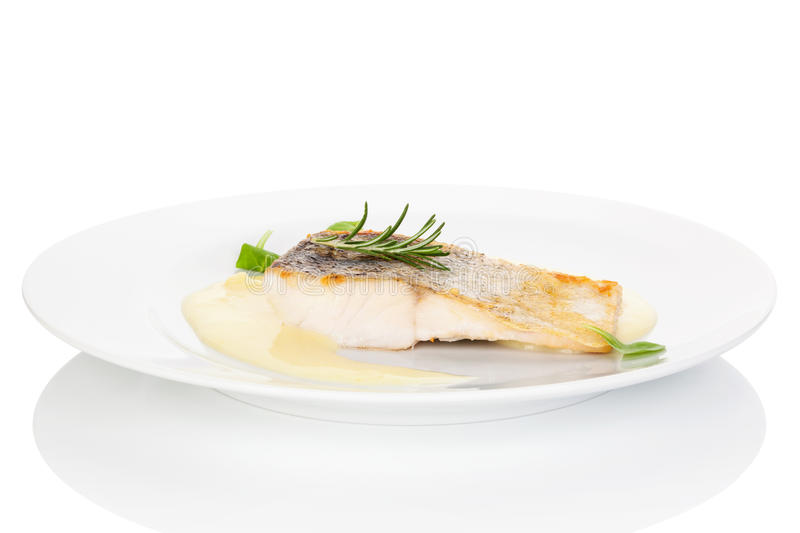 Exquisite seafood dinner. royalty free stock photography