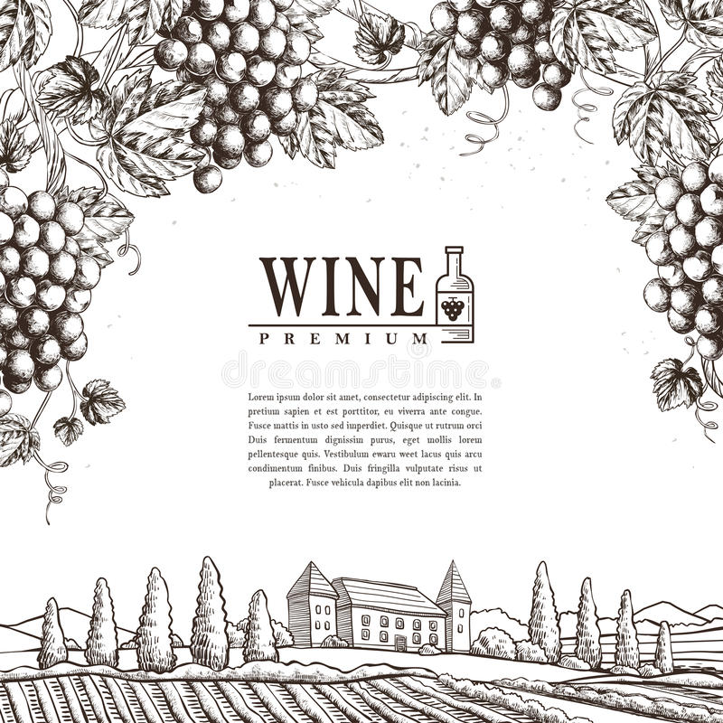 Free Exquisite Winery Poster Design Royalty Free Stock Photography - 71600227