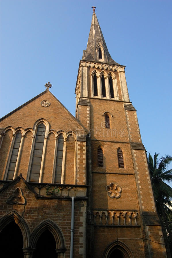 Extérieur Afghan D église, Mumbai Photo libre de droits