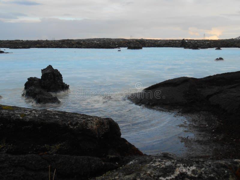 Extérieur bleu de lagune photos stock