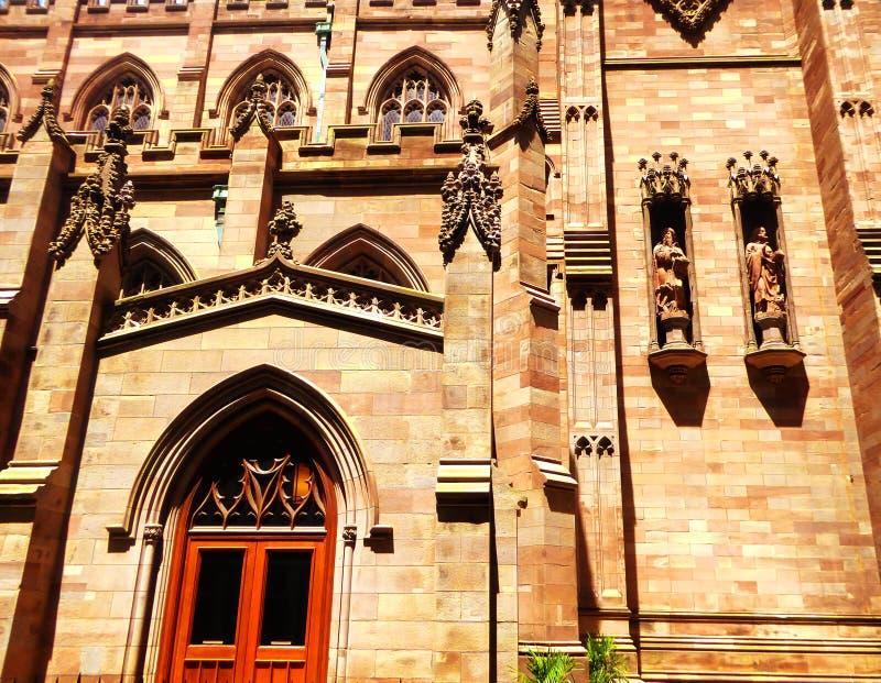 Extérieur d'église de trinité de New York image stock