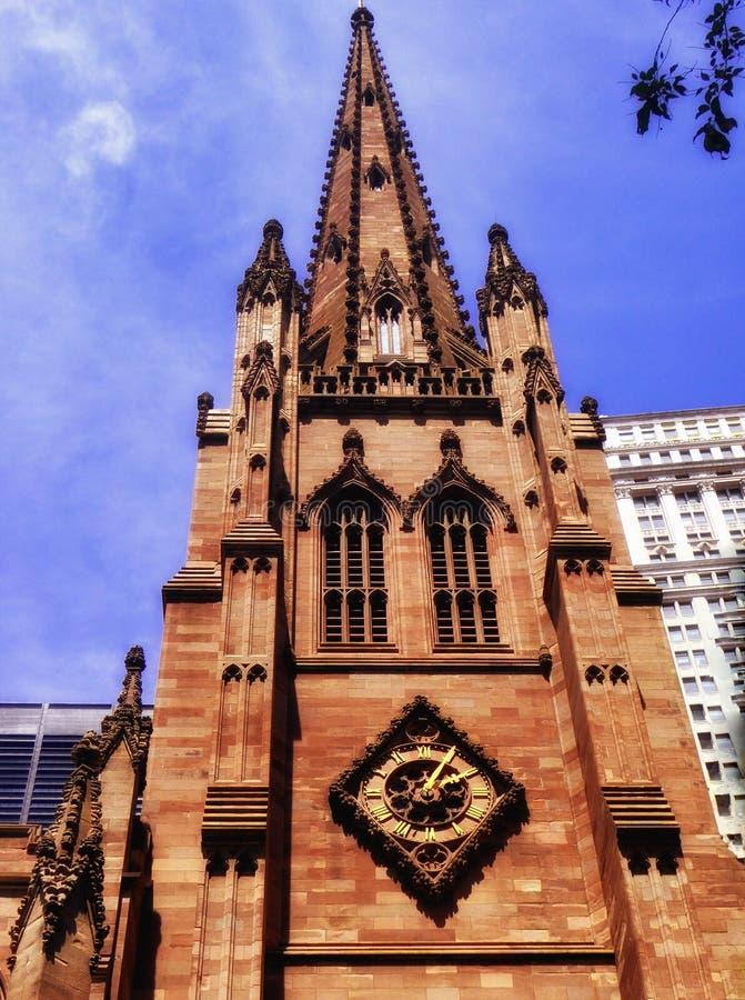 Extérieur d'église de trinité de New York images libres de droits
