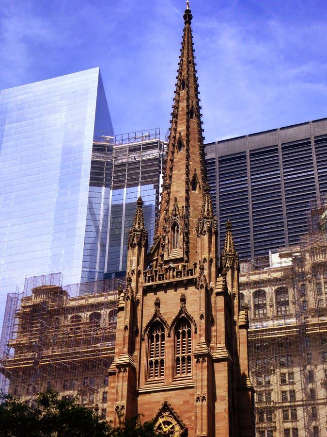 Extérieur d'église de trinité de New York image libre de droits