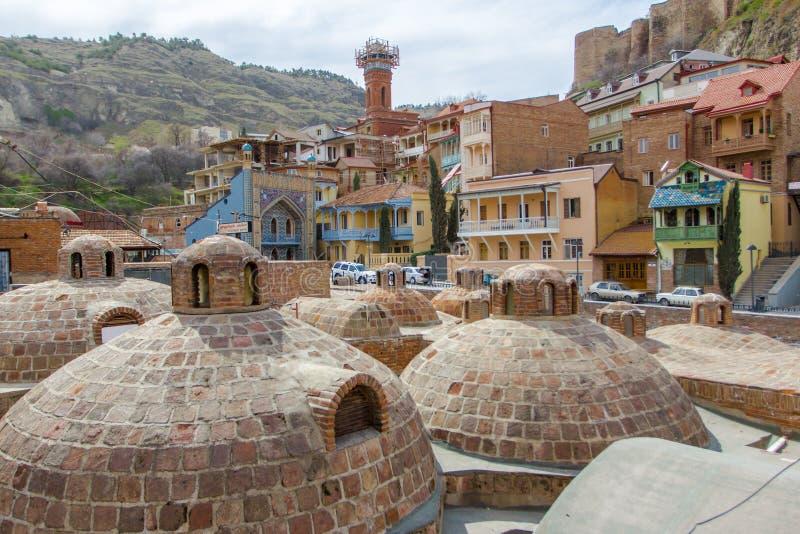 Extérieur de bain public à Tbilisi, la Géorgie images stock