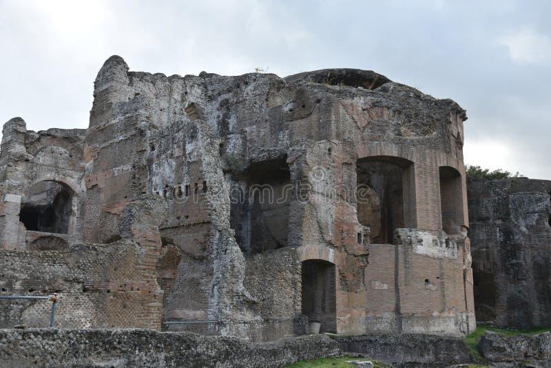 Extérieur de Chambre de Bath de Therme de Grands de villa du ` s de Hadrian, Tivoli photo libre de droits