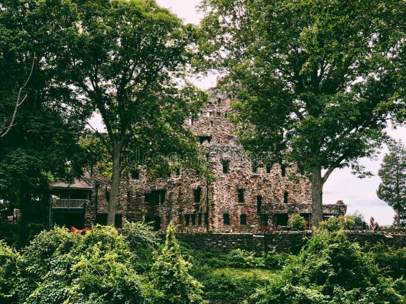 Extérieur de Gillette Castle images libres de droits