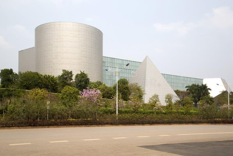 Extérieur de Guangxi Art Gallery dans la ville Chine de Nanning photo stock