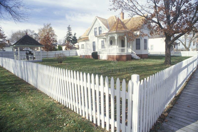 Extérieur de Herbert Hoover Presidential Library, site historique national dans la branche occidentale Iowa image libre de droits