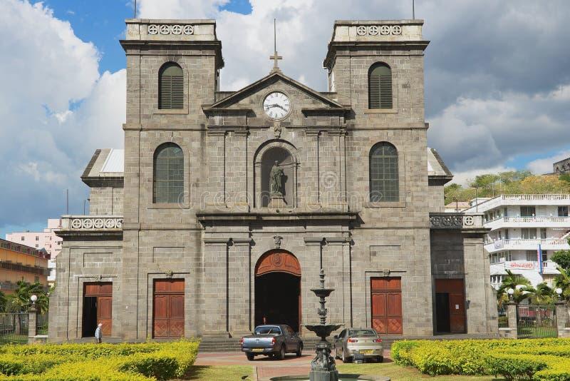 Extérieur de l'église de la conception impeccable à Port-Louis, Îles Maurice image libre de droits
