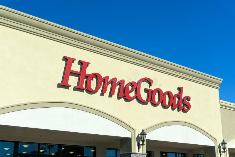 Extérieur de magasin de détail de HomeGoods photos stock