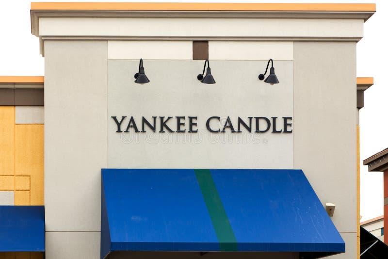 Extérieur de magasin de détail de Yankee Candle Company photo stock