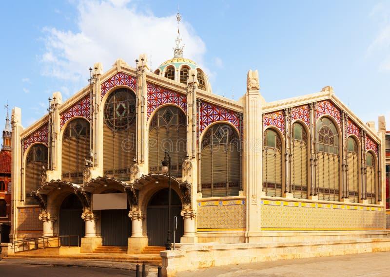 Extérieur de marché central à Valence images stock
