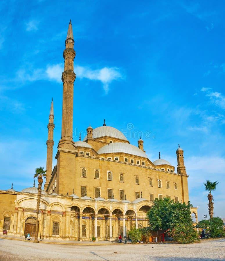 Extérieur de mosquée d'albâtre, Saladin Citadel, le Caire, Egypte photo libre de droits