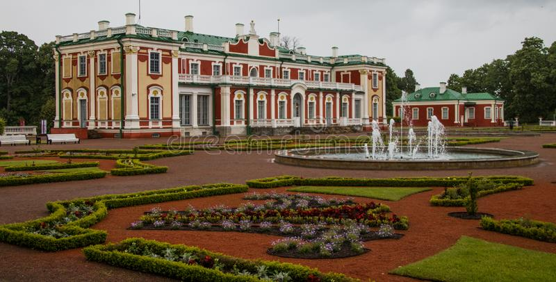 Extérieur de palais de Kadriorg photo libre de droits