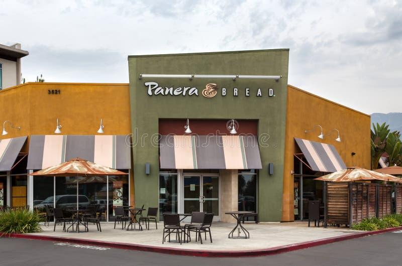 Extérieur de restaurant de pain de Panera photographie stock libre de droits