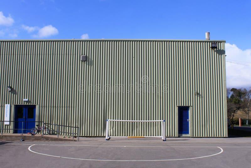 Salle de gymnastique d'école photo stock