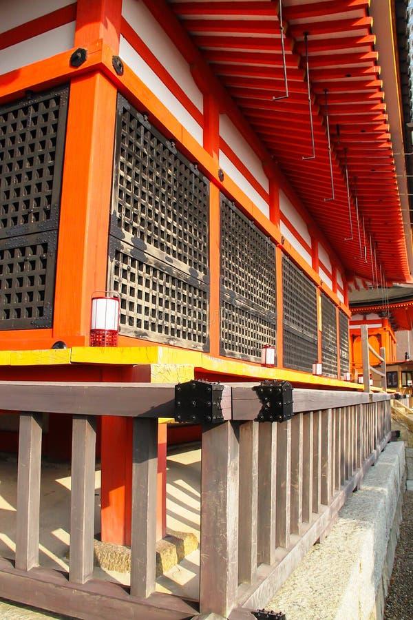 Extérieur de temple de Kiyomizu-dera images stock