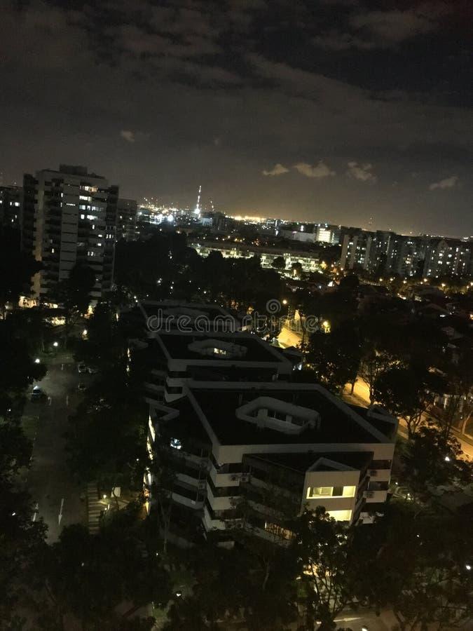 Extérieur de vue de nuit de mon balcon II images stock