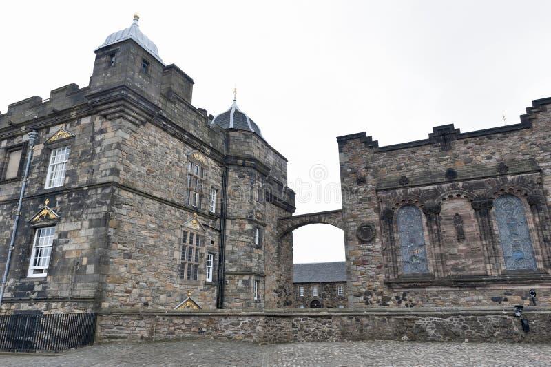 Extérieur du bâtiment de Royal Palace à la place de couronne à l'intérieur du château d'Edimbourg, Ecosse, R-U image stock