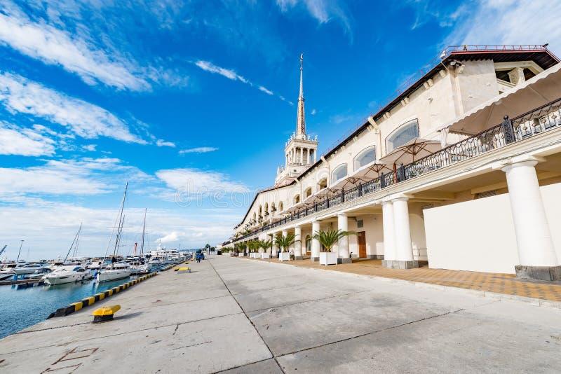 Extérieur du port de Sotchi image stock