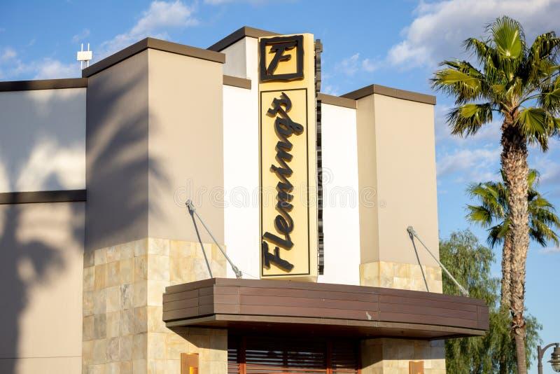 Extérieur du restaurant de Fleming photos stock