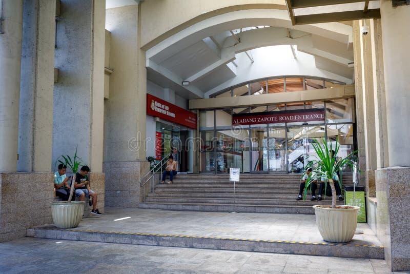 Extasie a ideia do centro de cidade de Alabang na cidade de Manila fotos de stock