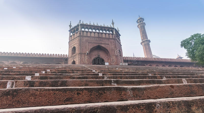 Extasie a porta de Jama Masjid Mosque em Nova Deli, Índia fotos de stock royalty free