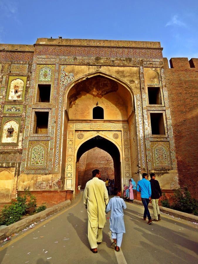 extasie a porta do forte de Lahore, Lahore, Paquistão fotografia de stock royalty free