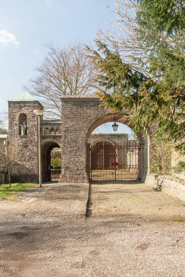 Extasie portas ao jardim do claustro do claustro de Lioba imagens de stock