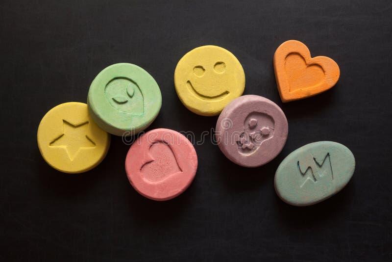 Extaspreventivpillerar arkivfoto