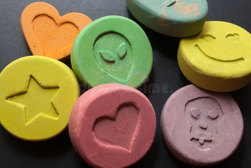 Extaspreventivpillerar royaltyfria bilder