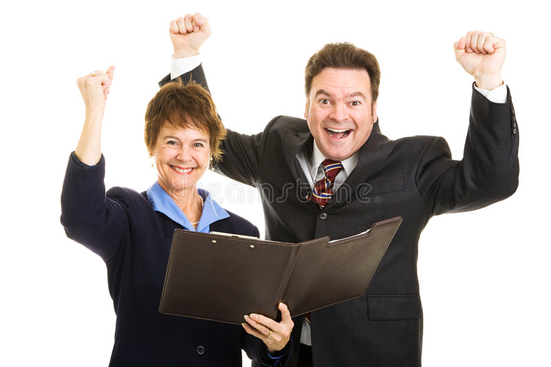 extatiska deltagare för affär royaltyfria foton