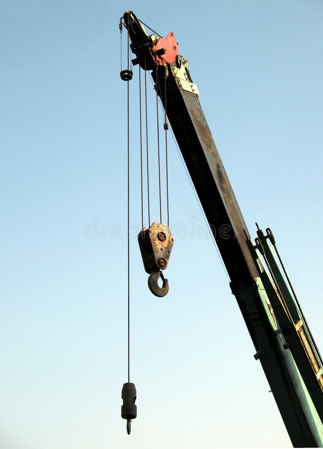 Extendable Crane royalty free stock photo