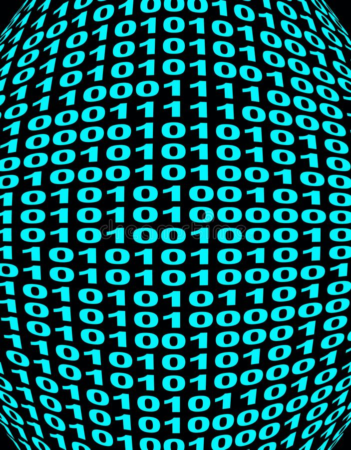 Extended binary code stock images