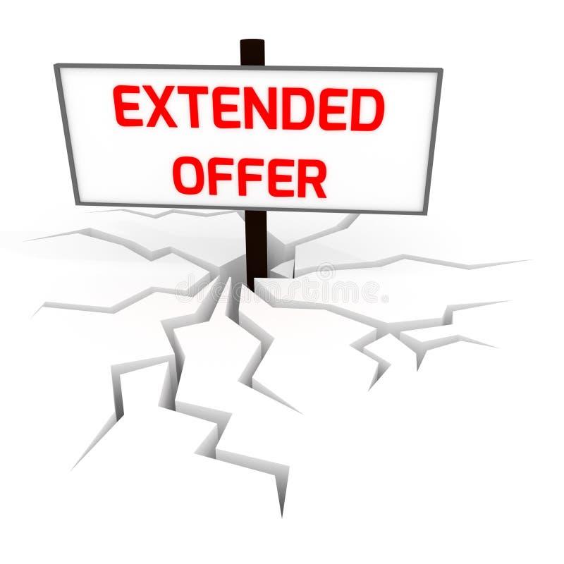 Extended offer banner 3D royalty free illustration