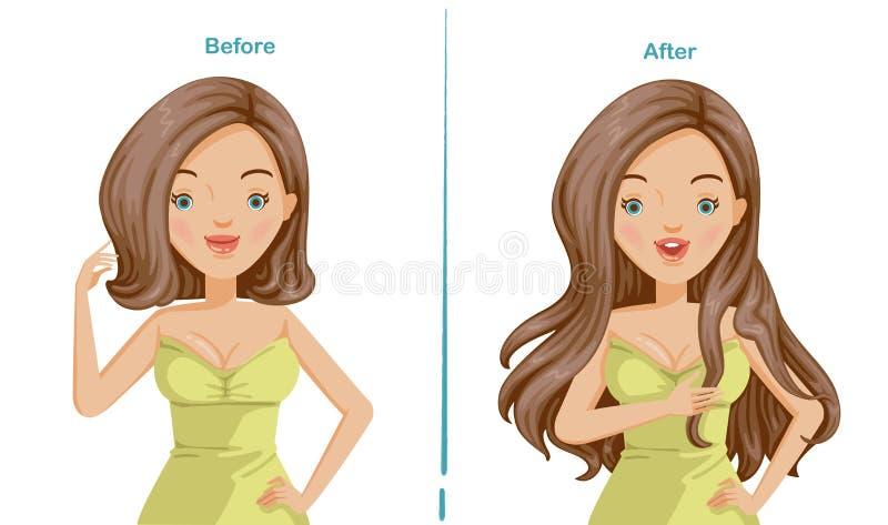Extensão do cabelo ilustração stock