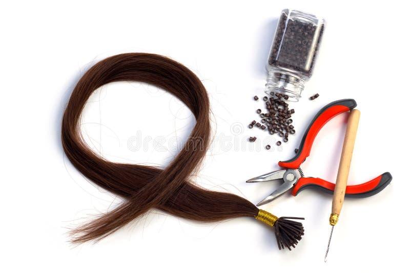 Extensão do cabelo imagem de stock