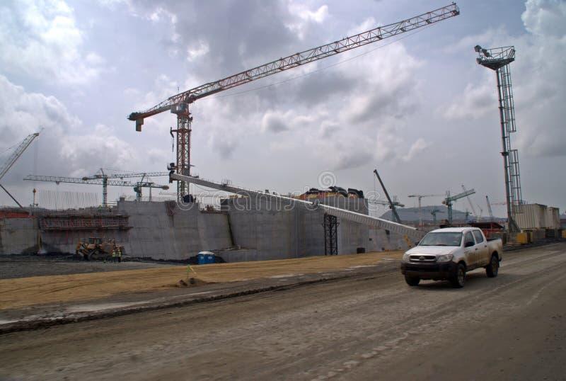 Extensão V do canal do Panamá foto de stock royalty free