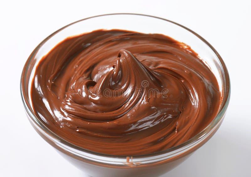 Extensión del chocolate de la avellana imágenes de archivo libres de regalías