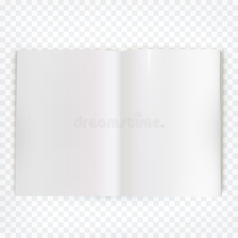 Extensión en blanco abierta de la revista del vector ilustración del vector