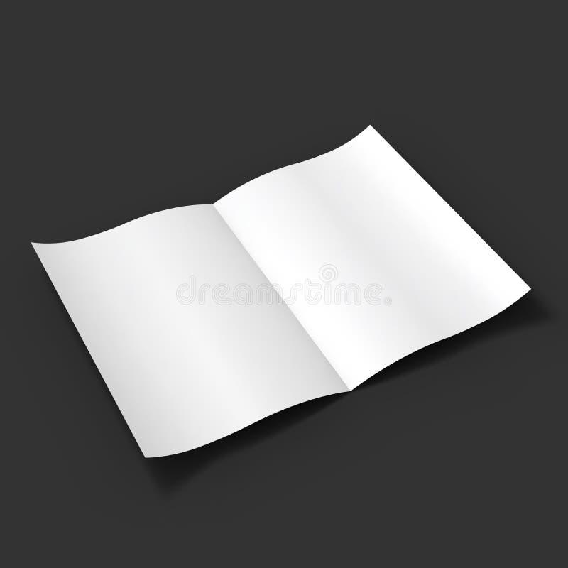 Extensión en blanco blanca de la revista Maqueta del negocio stock de ilustración