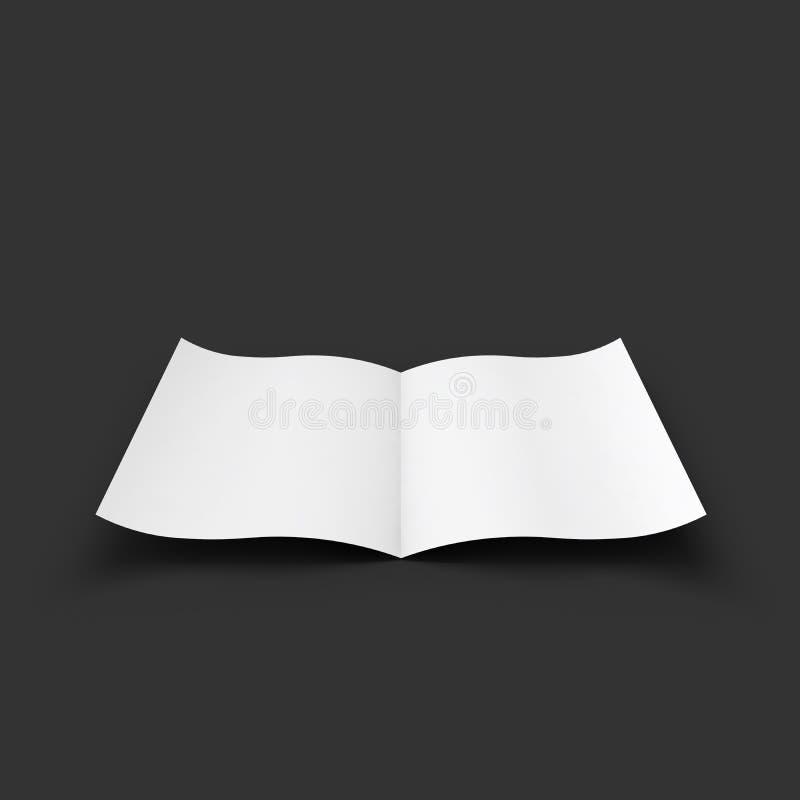 Extensión en blanco blanca de la revista Maqueta del negocio libre illustration