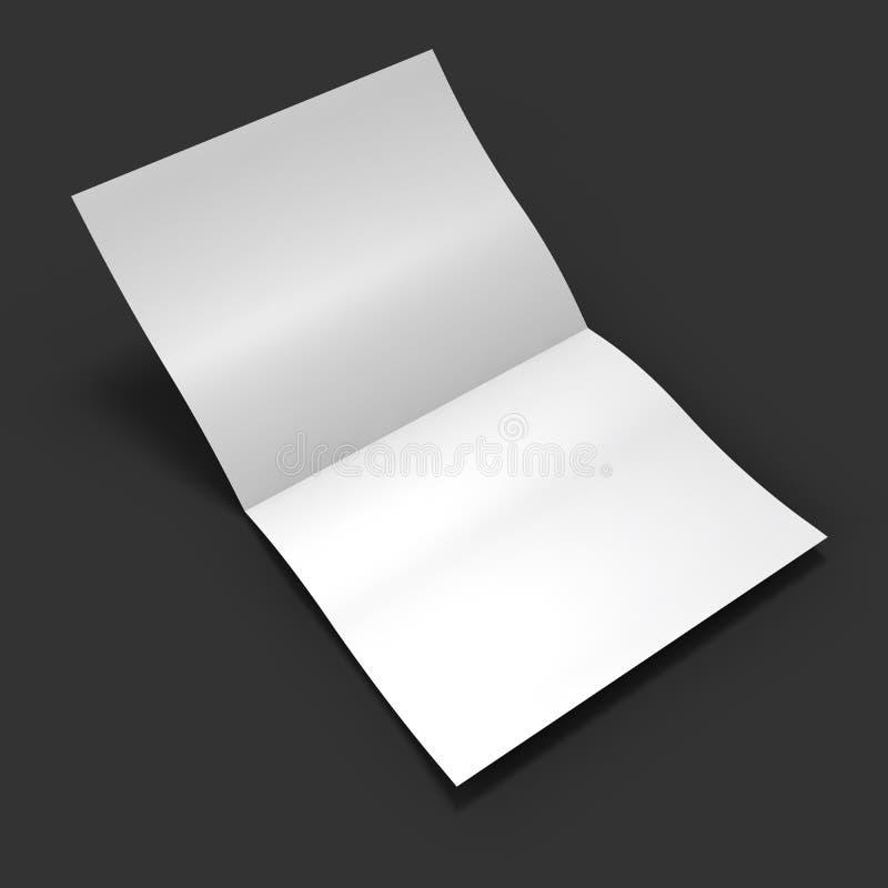 Extensión en blanco blanca de la revista Maqueta del negocio ilustración del vector