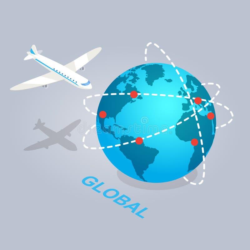 Extensión global del ejemplo del comercio electrónico ilustración del vector